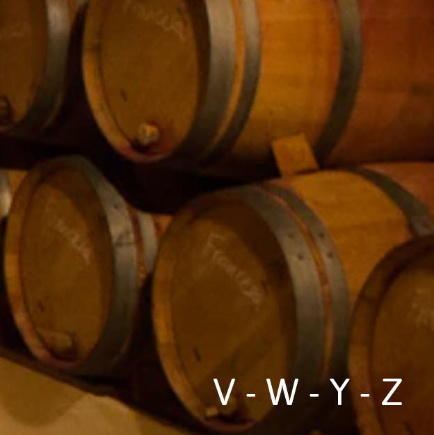 Viñas V - W - Y - Z
